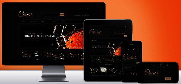 Responsive Caviar Store Magento Theme