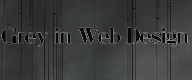 Grey in Web Design