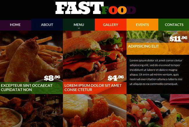 Restaurant Responsive Web Template