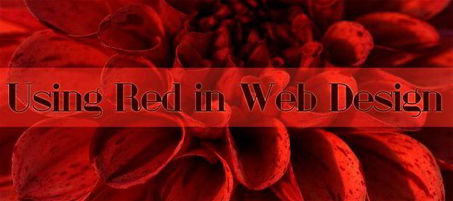 Red in Web Design