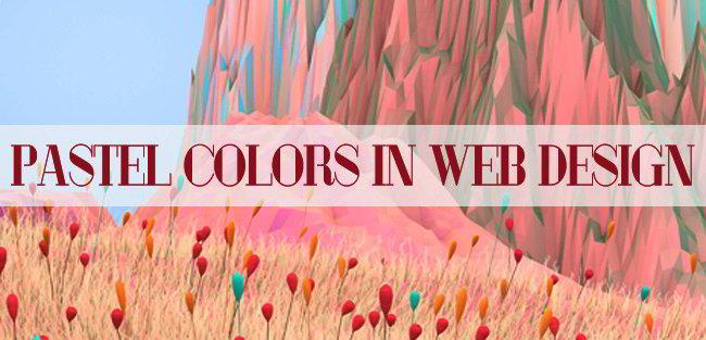 Ppastel colors in web design