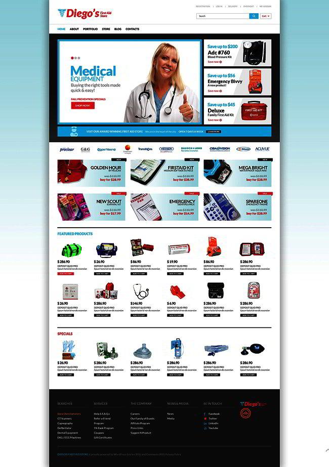 Ambulance Responsive WooCommerce Theme
