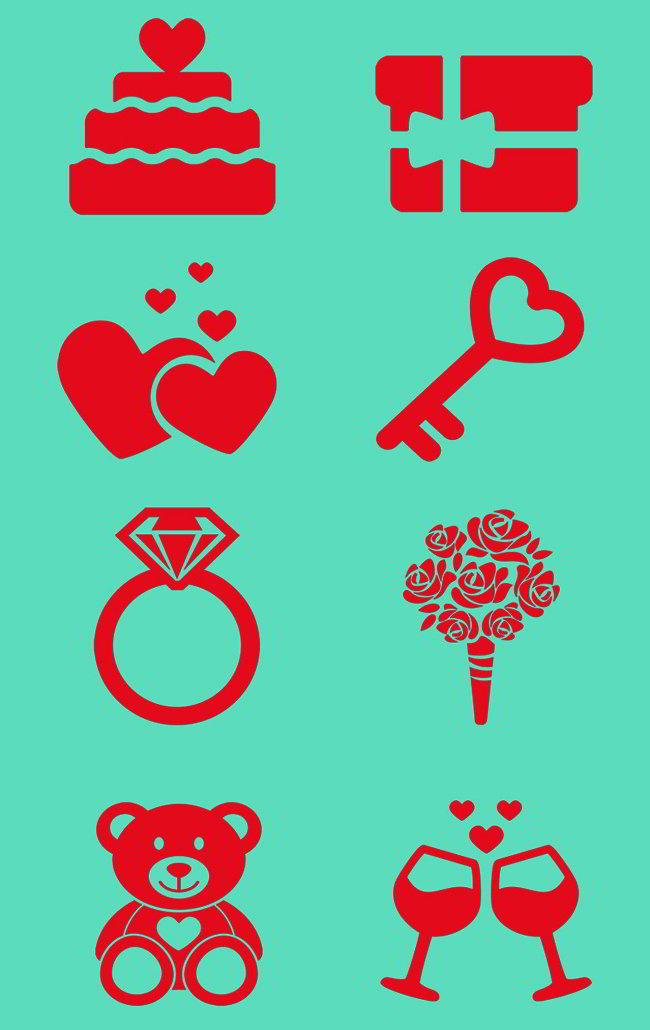 free Valentine icons