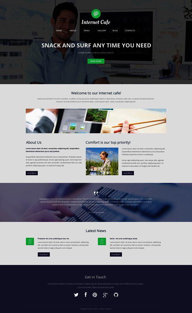 Internet Cafe WordPress Theme