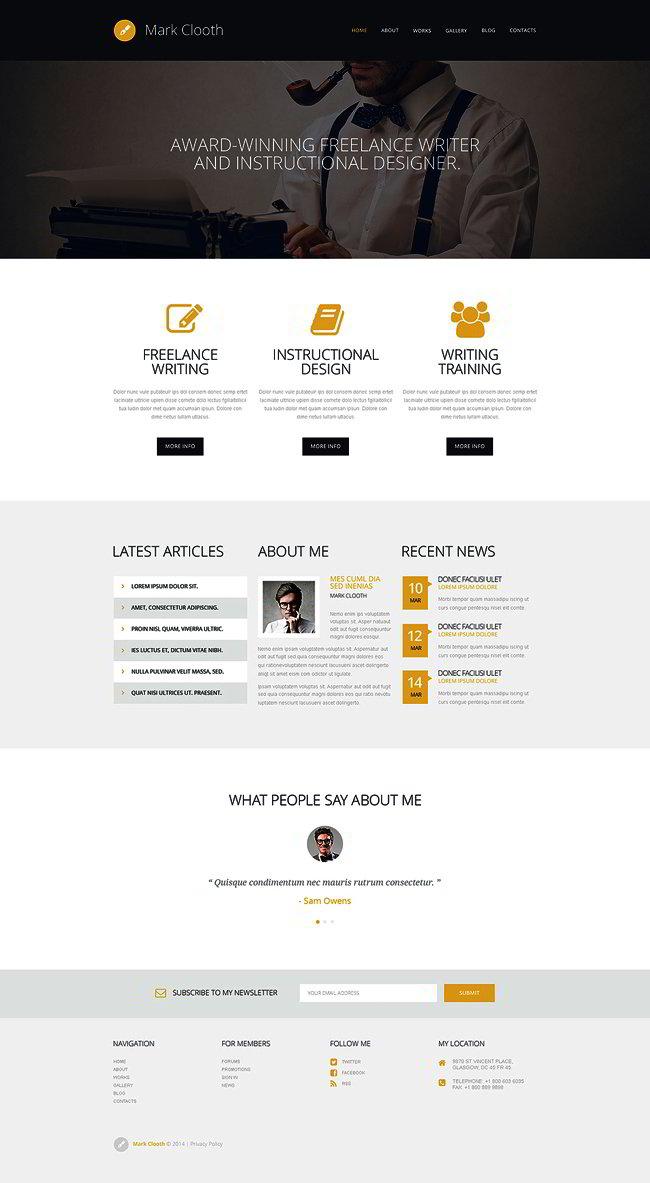 Online Presence of Freelancers WordPress Theme