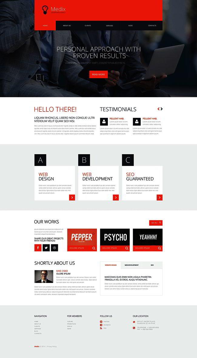 Interactive Ad Group WordPress Theme