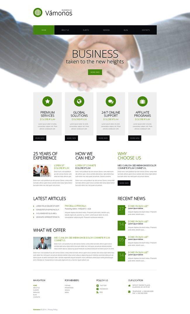Doing Business WordPress Theme