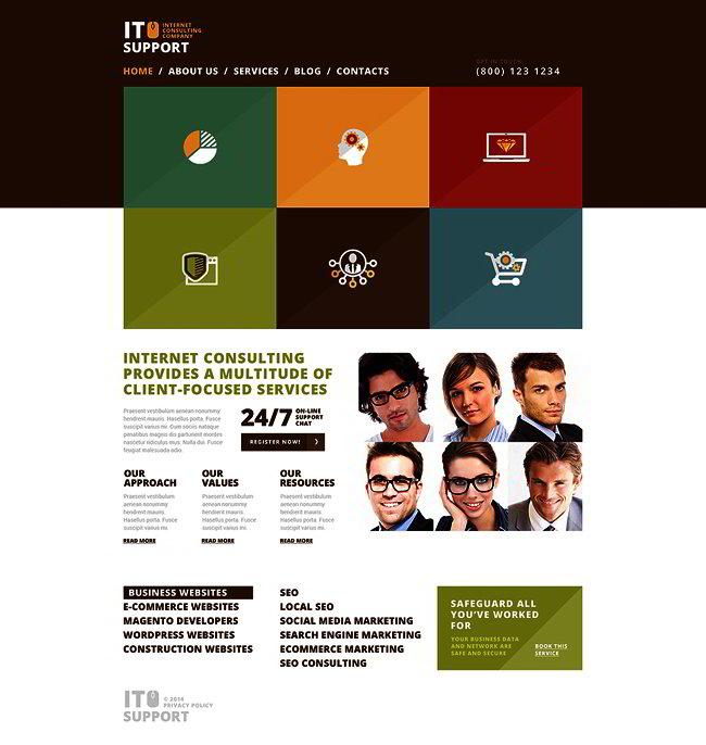 Trustworthy IT Company WordPress Theme