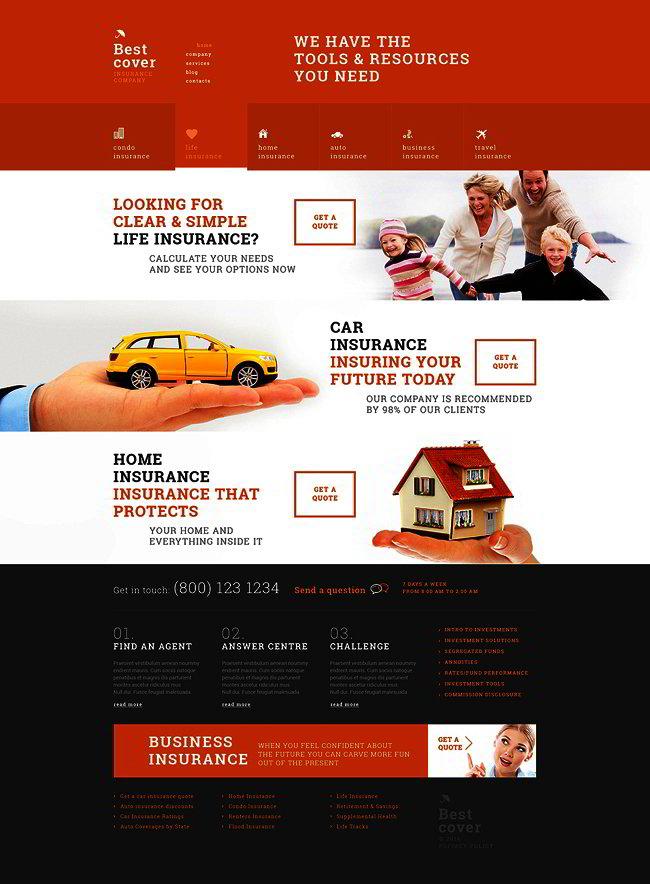 Online Insurance Services WordPress Theme