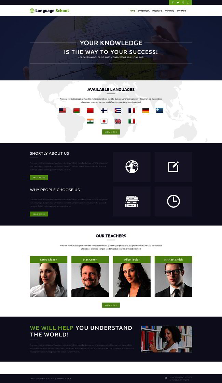 Foreign Language School WordPress Theme
