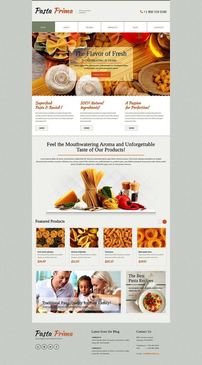 Family Pasta WordPress Theme