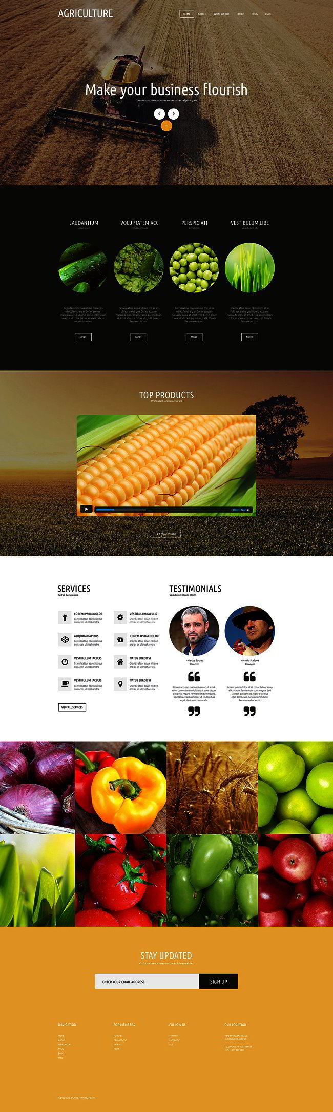 Agriculture Joomla Theme