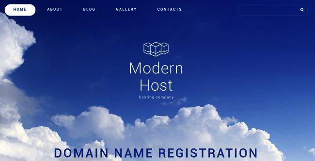 hosting joomla template